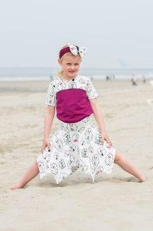 Hanne Jersey skirt & discoverer tee-0276