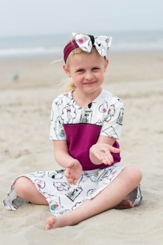 Hanne Jersey skirt & discoverer tee-0314